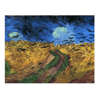 Van Gogh Wheatfield With Crows Postcard