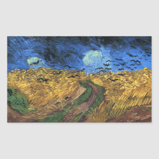 Van Gogh Wheatfield With Crows Stickers