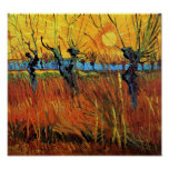 Van Gogh - Willows at Sunset Poster
