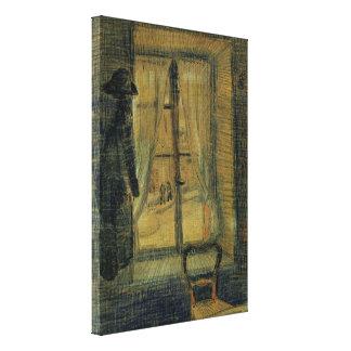 Van Gogh Window in Bataille Restaurant, Fine Art Gallery Wrapped Canvas