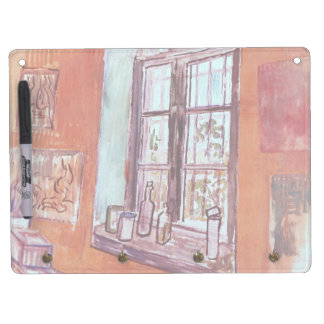 Van Gogh Window of Vincent's Studio at the Asylum Dry Erase Board With Key Ring Holder