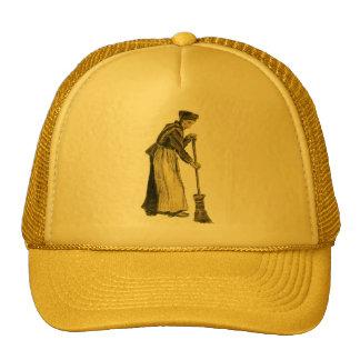 Van Gogh Woman with a Broom Fine Art Cap
