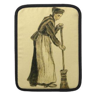 Van Gogh Woman with a Broom Fine Art iPad Sleeve