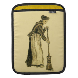 Van Gogh Woman with a Broom Fine Art Sleeves For iPads