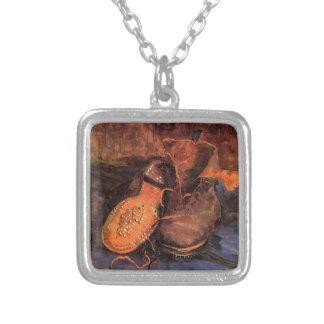Van Gogh's 'A Pair of Shoes' Necklace Square Pendant Necklace