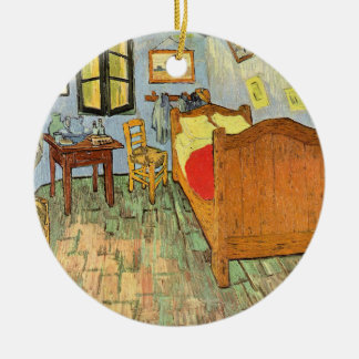 Van Gogh's Bedroom Round Ceramic Decoration