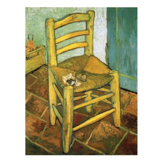 Wooden Bedroom Bench Van Gogh Bedroom Art Bedroom Ceiling Light Fixtures Kids Bedroom Curtains Design: Van Gogh's Chair By Vincent Van Gogh Postcard