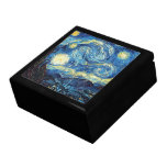 Van Gogh's Famous Painting Starry Night Large Square Gift Box