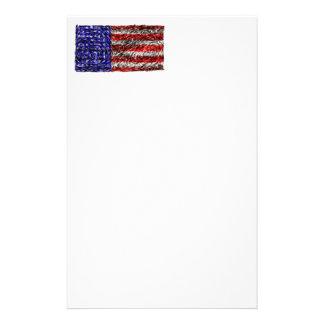 Van Gogh's Flag of the United States Custom Stationery