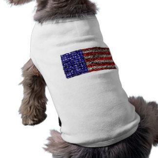 Van Gogh's Flag of the United States Sleeveless Dog Shirt