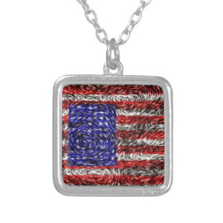 Van Gogh's Flag of the United States Custom Necklace