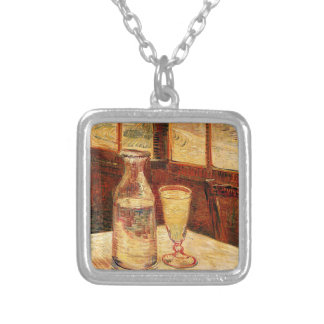 Van Gogh's 'Glass of Absinthe & a Carafe' Necklace Square Pendant Necklace