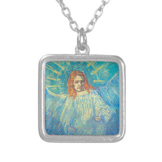 Van Gogh's 'Half Figure of an Angel' Necklace Square Pendant Necklace