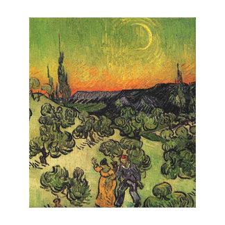 Van Gogh's 'Landscape w/ Couple Walking' Canvas Canvas Prints