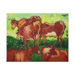 Van Gogh's 'Les Vaches' Canvas Print