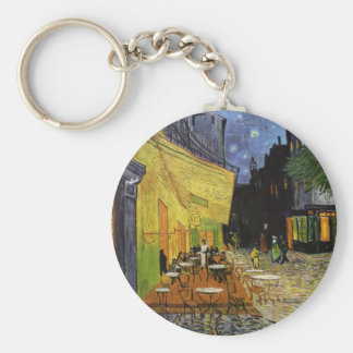 Van Gogh's Night Cafe Basic Round Button Key Ring