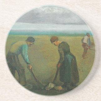 Van Gogh's Peasants or Farmers Planting Potatoes Coaster
