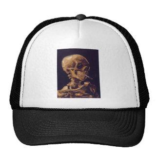 Van Gogh's 'Skull w/  a Burning Cigarette' Hat
