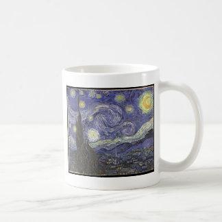 Van Gogh's Starry Night Classic Painting Basic White Mug