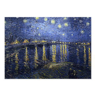 Van Gogh's 'Starry Night Over the Rhone' 13 Cm X 18 Cm Invitation Card
