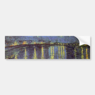 Van Gogh's Starry Night Painting Bumper Sticker