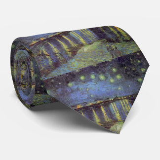Van Gogh's Starry Night Painting Tie