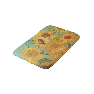 Van Gogh's Sunflowers Bath Mats