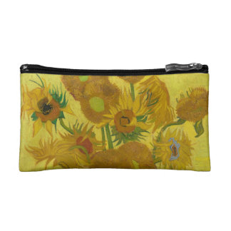 Van Gogh's Sunflowers Makeup Bag