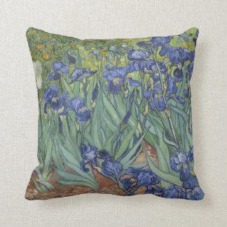 Van Goh Blue Irises Garden Themed Large Pillow