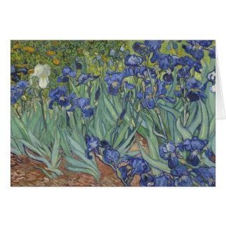Van Goh Irises Flower Painting Cards