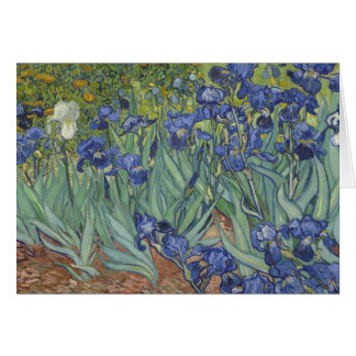 Van Goh Irises Flower Painting Greeting Card