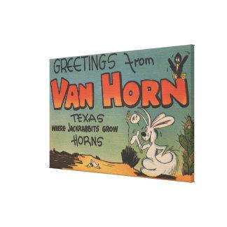 Van Horn, Texas (Jackrabbit & Crow) Stretched Canvas Prints