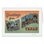 Van Horn, Texas - Large Letter Scenes Greeting Card