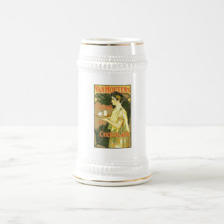 Van Houten's Cacao en Chocolade 1899 18 Oz Beer Stein