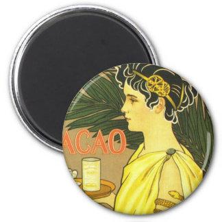 Van Houten's Chocolade Art Nouveau 6 Cm Round Magnet