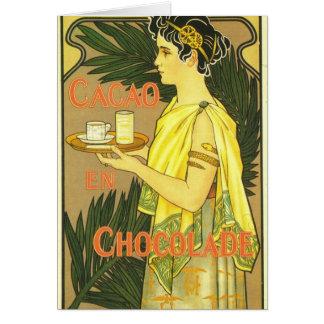 Van Houten's Chocolade Art Nouveau Greeting Card