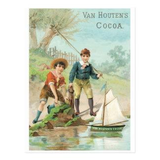 Van Houtens Cocoa Postcard