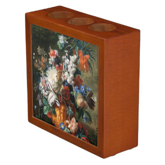 Van Huysum's Bouquet of Flowers desk organizer