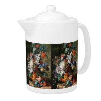 Van Huysum's Bouquet of Flowers teapot
