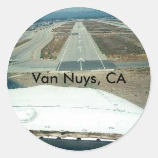 Van Nuys CA Round Sticker