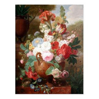Van Spaendonck Flowers Still Life Postcard