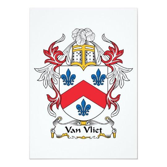 Van Vliet Family Crest Card