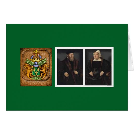 Van Westervelt Family circa 1550 Portraits Card