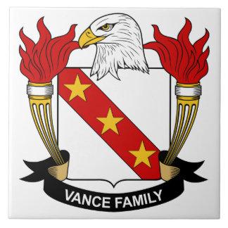 Vance Family Crest Large Square Tile