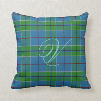 Vance Tartan Monogram Pillow Cushion