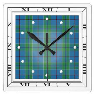 Vance Tartan Wall Clock