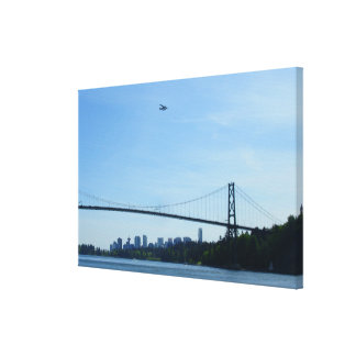 Vancouver Art Print Lions Gate Cityscape Canvas Gallery Wrapped Canvas