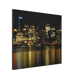 Vancouver Art Print Vancouver Cityscape Canvas Canvas Print