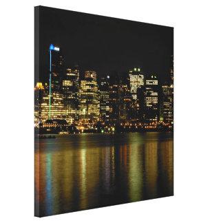 Vancouver Art Print Vancouver Cityscape Canvas Stretched Canvas Print