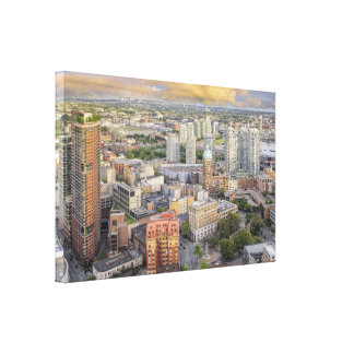 Vancouver BC Canada Cityscape Wrapped Canvas Print